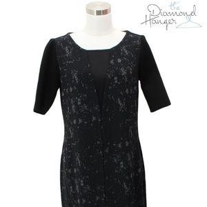 ELIE TAHARI Designer Dress Size Small S 4 6 Black